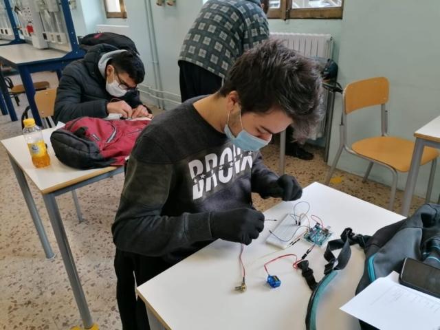 Studenti in laboratorio